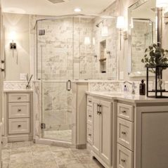 Transitional White Bathroom Remodel